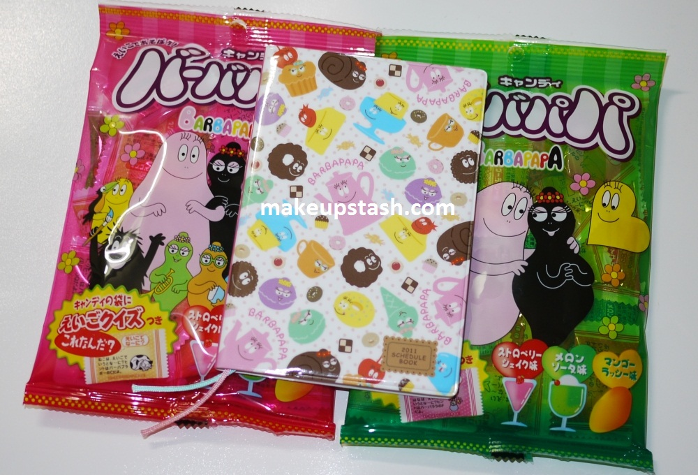 Barbapapa 2011 Schedule Book and Barbapapa Candy