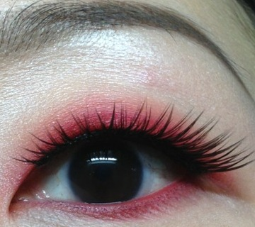 A Red Eyeshadow Look