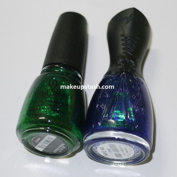 NOTD | China Glaze Emerald Sparkle + Nfu.Oh 52