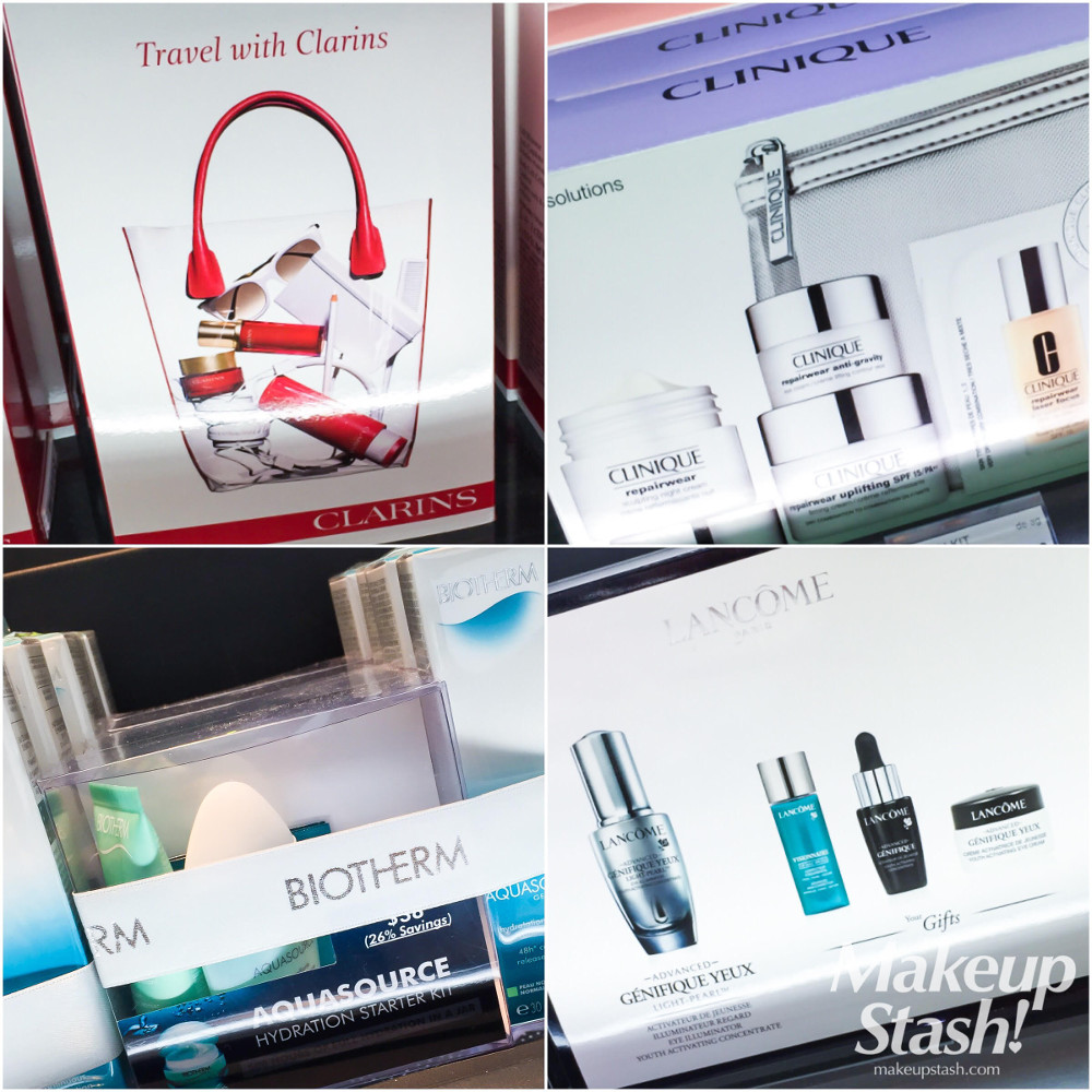 Clarins, Lancome, Biotherm and Clinique Skincare Travel Sets at Sephora Singapore ION