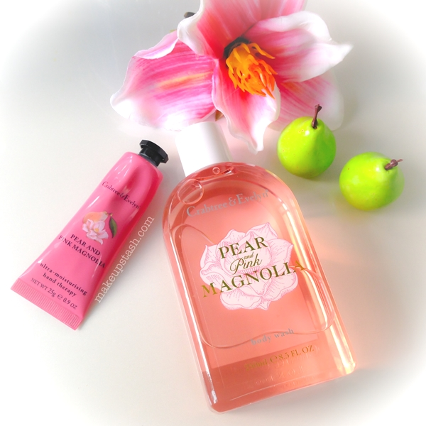 Crabtree and Evelyn Pear & Pink Magnolia Body Wash and Ultra-Moisturising Hand Therapy