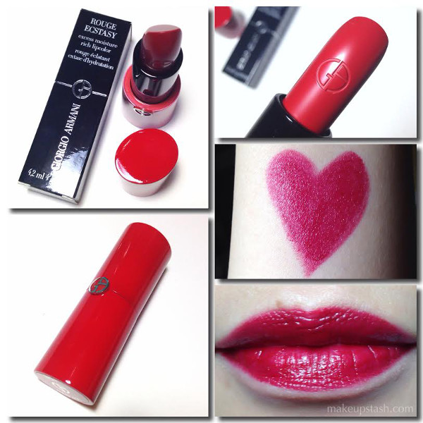 Giorgio Armani Rouge Ecstasy CC Lipstick in 401 Hot Swatches