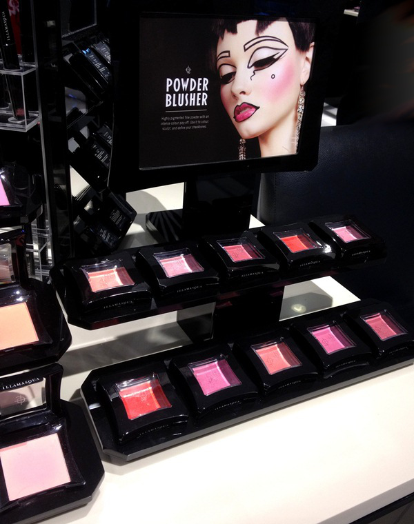 Illamasqua Powder Blush Display at Central Chidlom