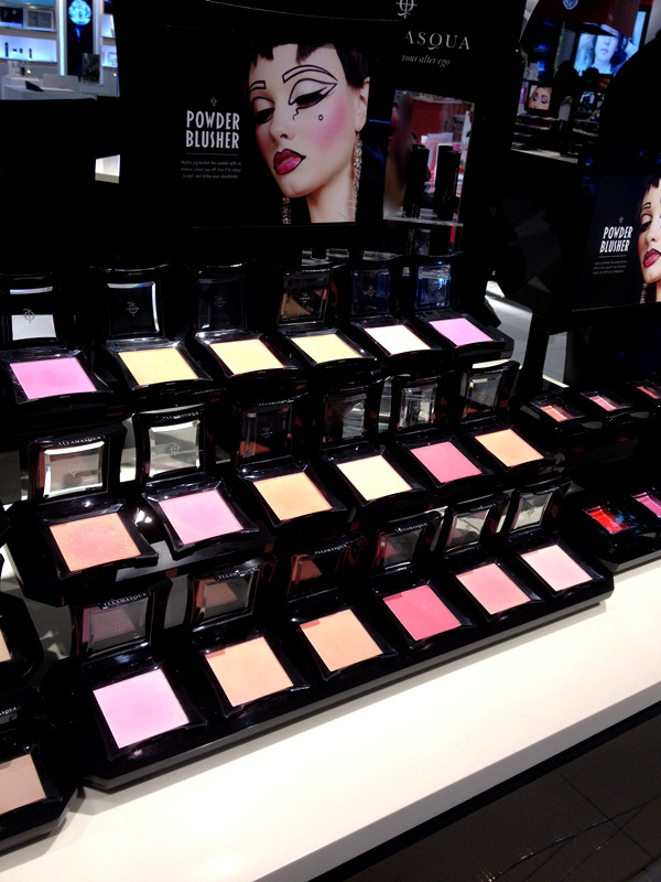 Illamasqua Powder Blusher Display at Central Chidlom