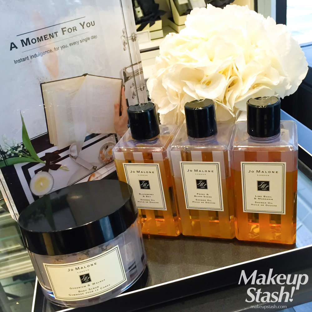 Jo Malone London Shower Oils and Geranium & Walnut Body Scrub in Singapore