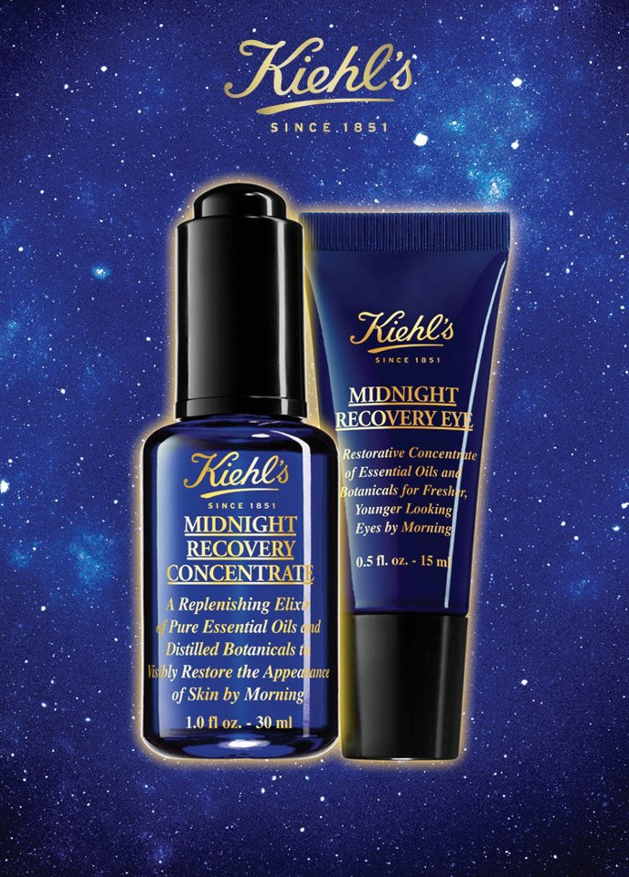 Kiehl's Midnight Recovery Concentrate and Midnight Recovery Eye Visual