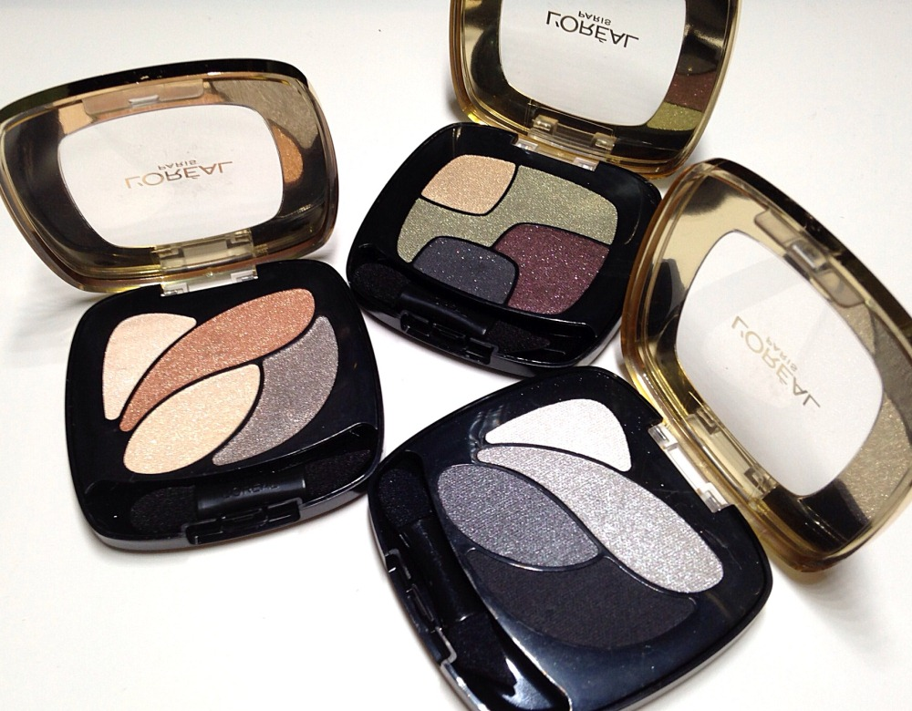 L'Oreal Color Riche Les Ombres in Beige Trench, Tresors Caches and Velours Noir