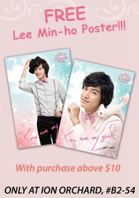 Lee Min Ho Poster Giveaway at Etude House Ion Orchard
