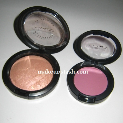MAC MSF in By Candlelight and MAC Sheertone Blush in Coygirl
