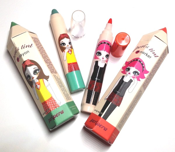 Review | Peripera Peri's Tint Crayon in 3 Fruity Mint and Peri's Tint Marker in 2 Orange Stain