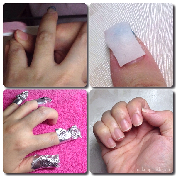 Removing Gel Acrylic Nails at The Nail Spa and Wellness