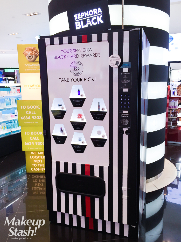Sephora Black Card Rewards Vending Machine at Sephora Singapore ION