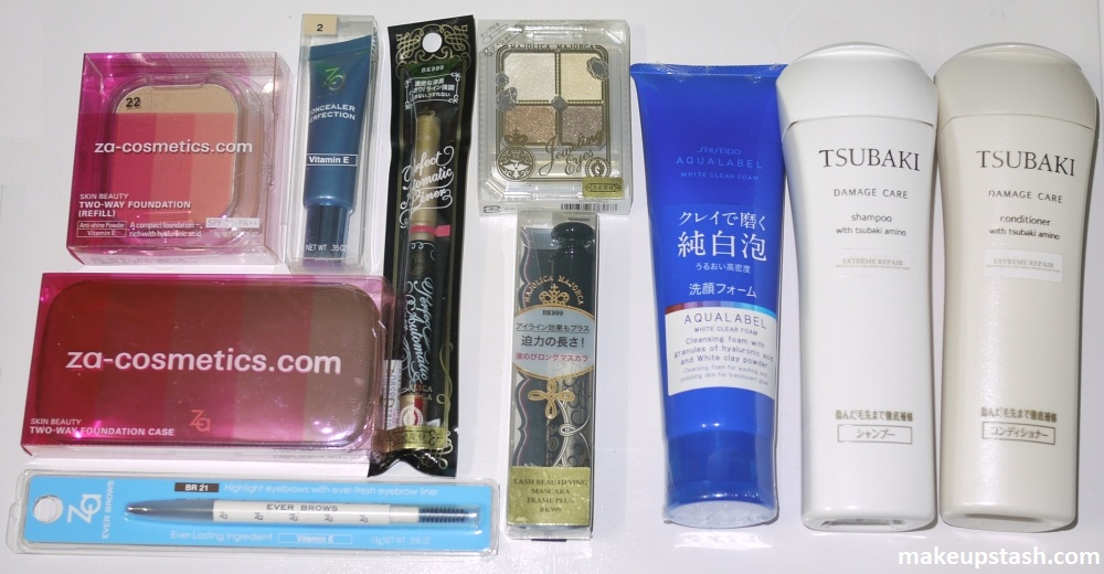 Shiseido Majolica Majorca, Tsubaki and Za Watsons HWB 2011 Winners
