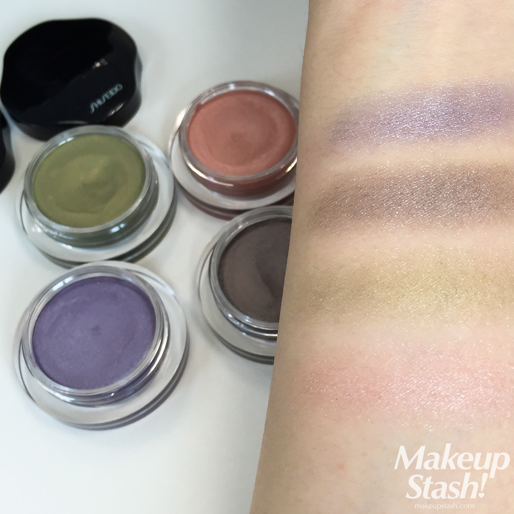 Shiseido Spring 2015 Shimmering Eye Color Swatches