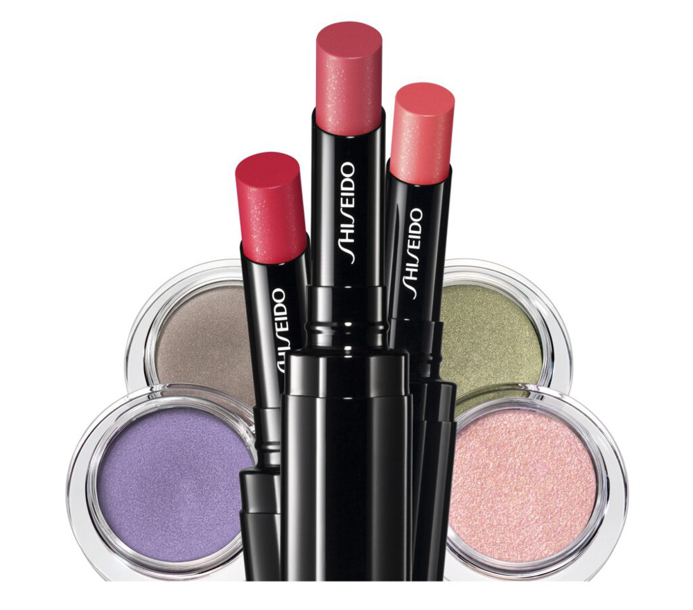 Shiseido Veiled Rouge Lipsticks and Shimmering Cream Eye Colors for Spring 2015