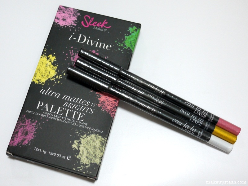 Sleek Makeup i-Divine Ultra Mattes VI Brights Palette and Eau La La Liners