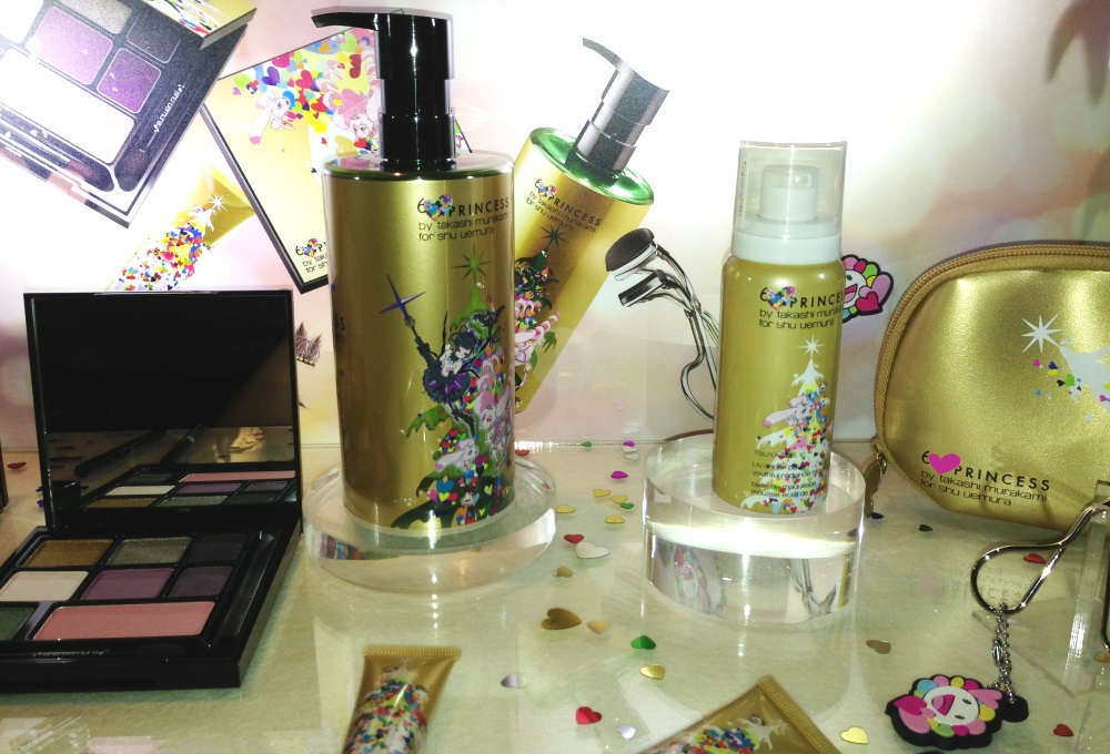 Takashi Murakami for Shu Uemura 6 Heart Princess Cleansing Oil and Tsuya Mousse