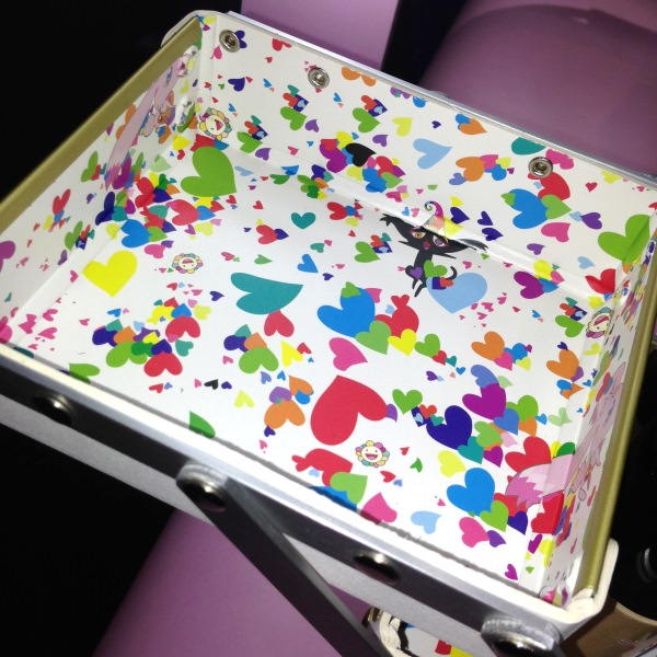 Takashi Murakami for Shu Uemura 6 Heart Princess Six Heart Princess Make-up Box Interior Print