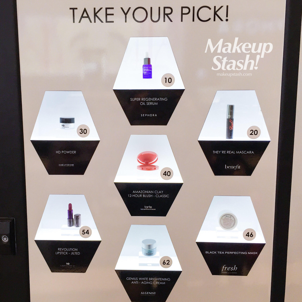 Take Your Pick from the Sephora Black Card Rewards Vending Machine at Sephora Singapore ION