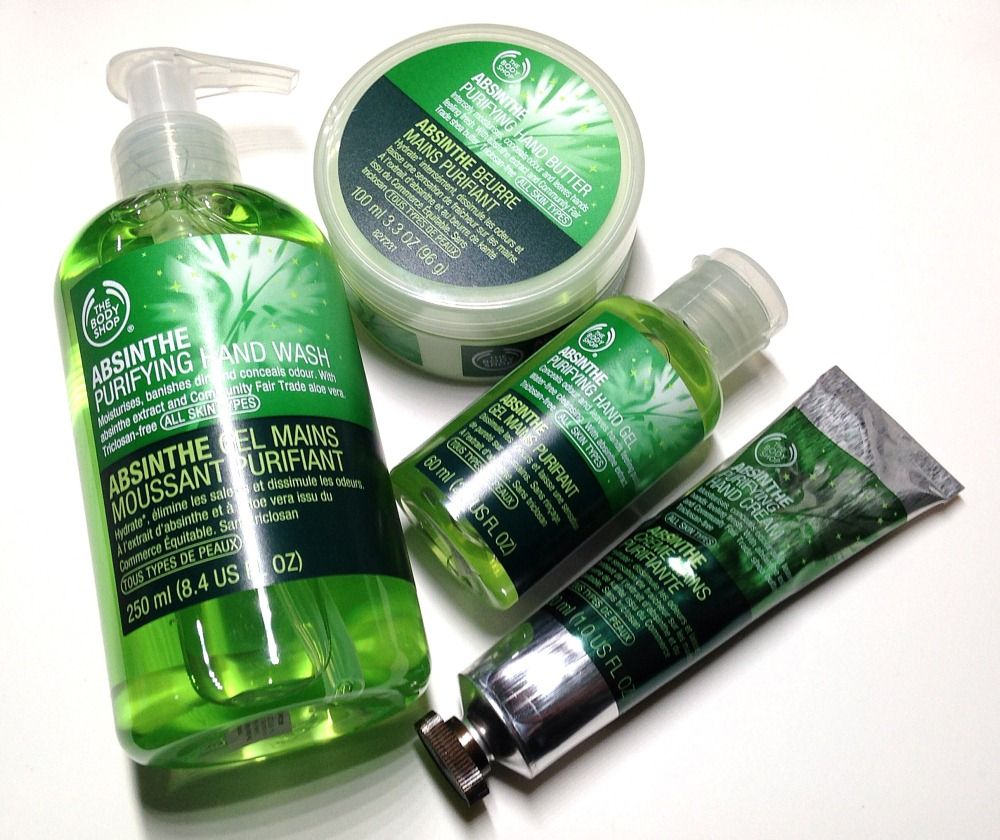 The Body Shop Absinthe Purifying Hand Care Range