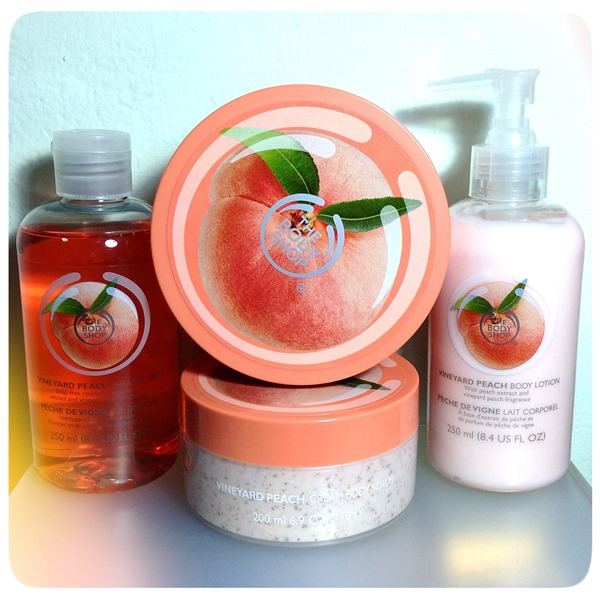 The Body Shop Special Edition Vineyard Peach Collection in Singapore