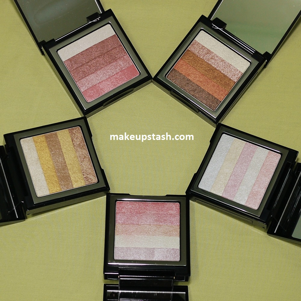 Tony Moly Shimmer Lover Cubes in 01 Pink, 02 Brown, 03 Pure Cocktail, 04 Pinkholic and 05 Gold