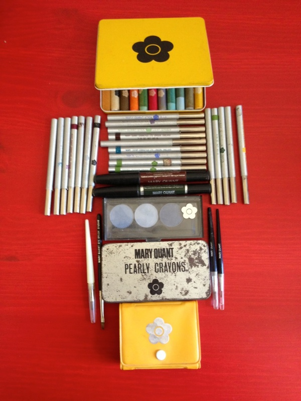 Vintage Mary Quant Makeup - Crayons, Pencils, Powde Eyeshadows and Brushes