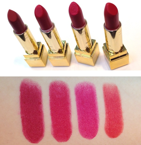 YSL Rouge Pur Couture The Mats 201 202 203 204 Swatches