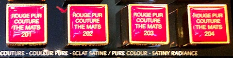 YSL Rouge Pur Couture The Mats Testers