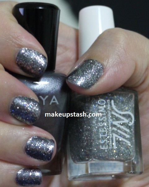 NOTD | Zoya Freja + Tins 057 The Lucky Star Jet = Astro Nails!